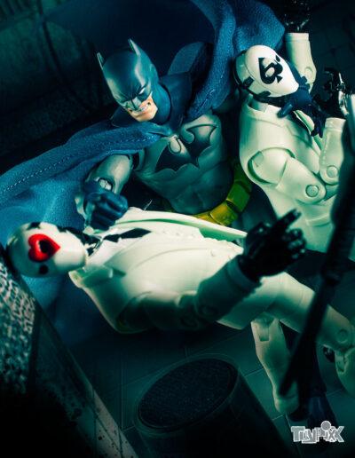 Toypixx Mafex Batman Hush and Jazwares Fortnite Wild Card Toy Photography