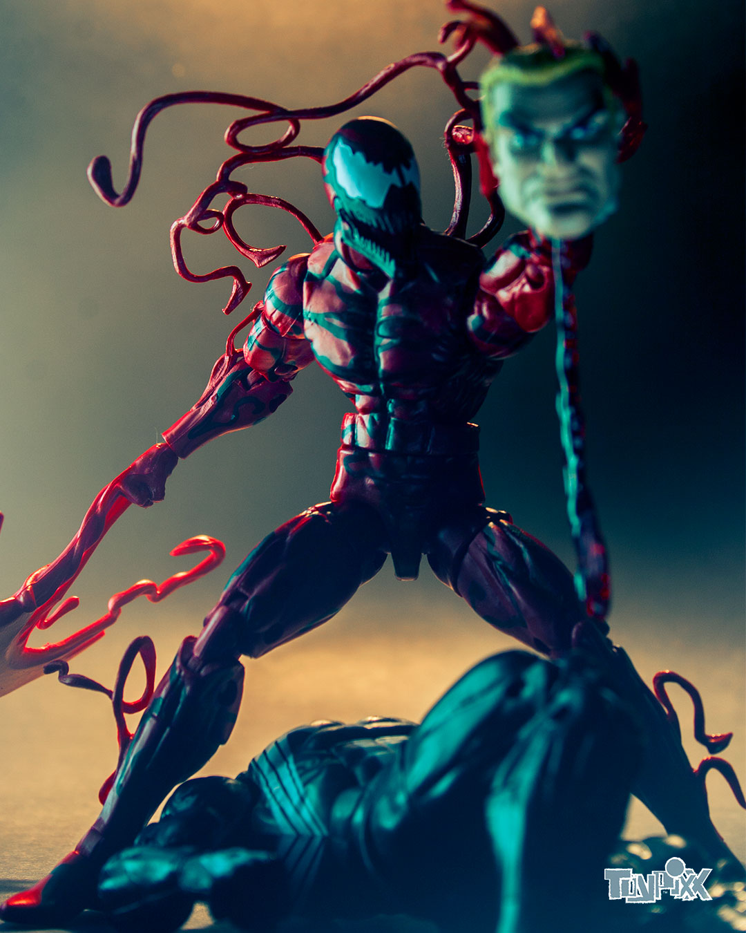 Toypixx Marvel Legends Carnage and Marvel Legends Venom Toy Photography