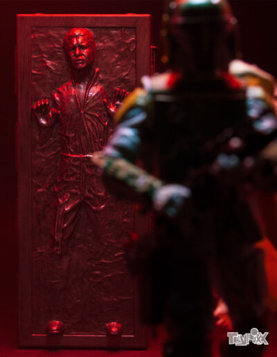 Toypixx Star Wars the Black Series Han Solo in Carbonite and Boba Fett Toy Photography